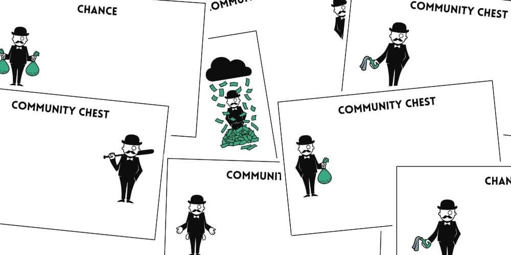 Monopoly Chance Community Chest Cards