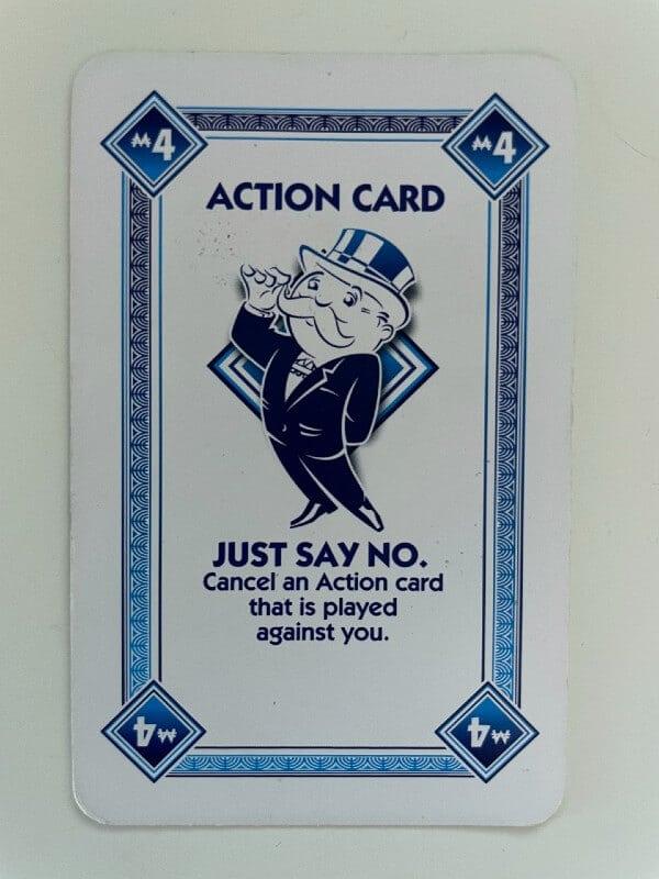 Just Say No card