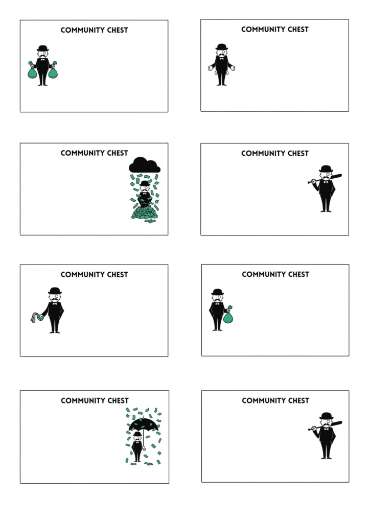 Monopoly Chance Cards Printable Template