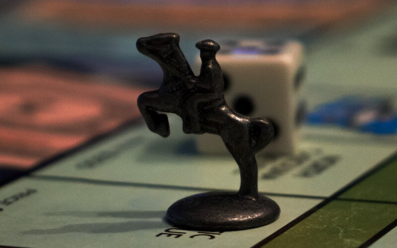Monopoly horse and rider token
