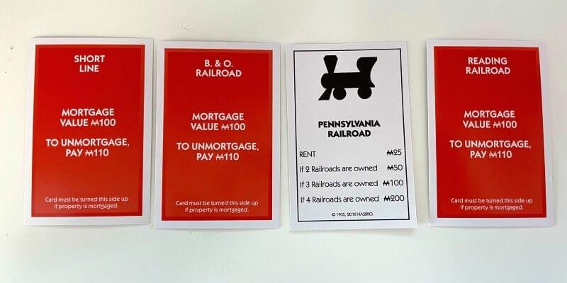 Monopoly railroads mortgaged