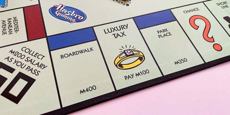 Park Place Monopoly Board