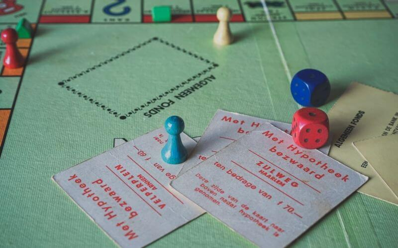 Wooden Monopoly tokens