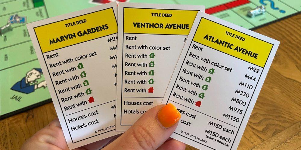 Yellow Monopoly properties